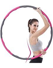 aoory Hula Hoop serie voor gewichtsvermindering, banden met schuimrubber, verzwaarde hoelahoepel voor fitness massage 8 knopen 0,8 kg