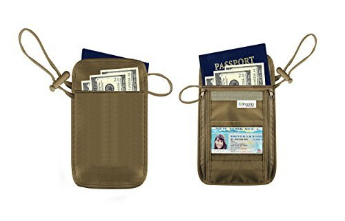Travel Wallet Neck Pouch - RFID Passport Wallet - High Quality Hidden Travel Wallet - Neck Passport Holder - Durable Travel Passport Wallet -Lifetime Guarantee - By Bingonia