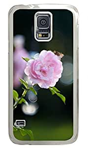 Pink Rose Bokeh Clear Hard Case Cover Skin For Samsung Galaxy S5 I9600