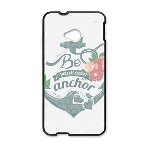 HTC One M7 Cell Phone Case Black Anchor LQ7384614
