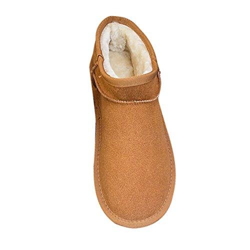 Dooxi Hommes Femmes Mode Bottes De Neige Chaud Doublure en Fausse Fourrure Bottines Décontractée Plates Chaussures