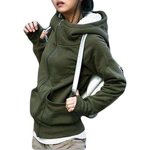 Naggoo Juniors Thumb Holes Funnel Neck Zip up Fleece Hoodie Jacket