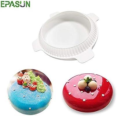 IDEA - Molde de silicona para tartas de Navidad, forma redonda, para repostería, herramientas de decoración de horno, molde para moldes de moldes