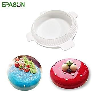 IDEA - Molde de silicona para tartas de Navidad, forma redonda, para repostería,