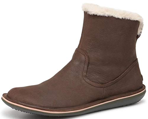 #Camper Beetle K400292 Dark Brown Womens Hi Leather Boots