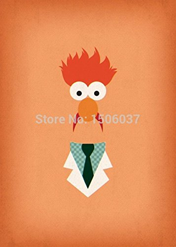 STAND BY YOU one -picture printed poster modern muppet oil painting on canvas sesame street character Beaker home (Beaker From Muppets)