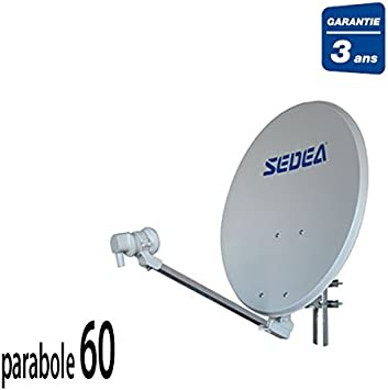 Sedea antena parabólica 60 + LNB 1 TV: Amazon.es: Electrónica