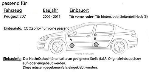 Peugeot 207 - Ground Zero GZIC 16X - 16cm Lautsprecher ...