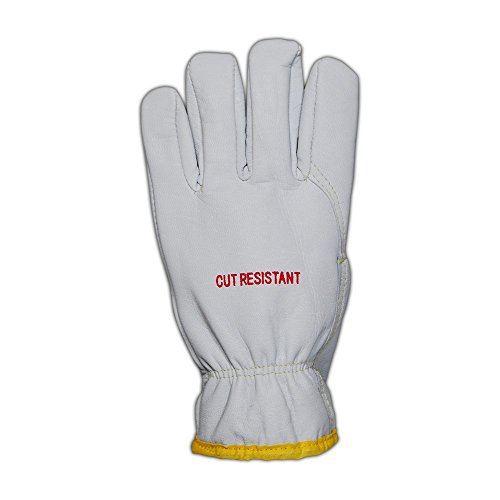 Magid Glove & Safety 2443DEXKS-XL Cut Master XKS 2443DEXKS Lined Goat Grain Leather Drivers Glove – ANSI Cut Level 4, ANSI Puncture 3, White, XL (12 Pairs) by Magid Glove & Safety (Image #1)