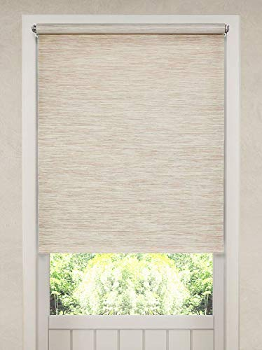 - Home Collections Natural Fiber Privacy Roller Shade, Heather Tan, 35x72