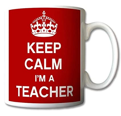 Keep Calm I 'm un profesor taza regalo Retro