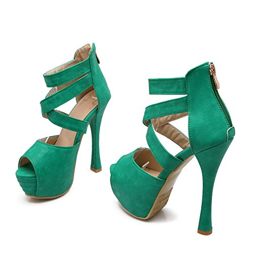 BalaMasa Womens Sandals Platform Huarache Fabric Urethane Sandals ASL04419 Green o3pHyqS
