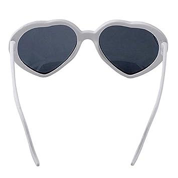Weiss REFURBISHHOUSE/Fashion Nette Retro Liebe-Herz-Form Lolita Sonnenbrille Abendkleid-Partei HOT