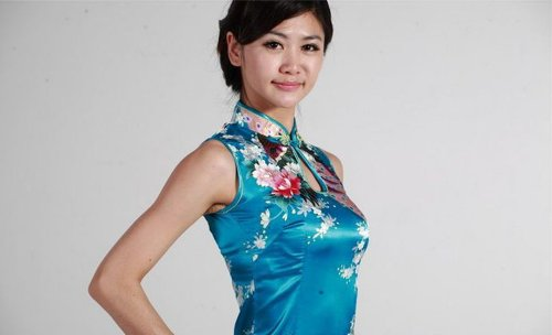 Jtc Women's Chinese Silk Peacock Long Cheongsam Dress (xx-large, blue) by Jtc (Image #4)