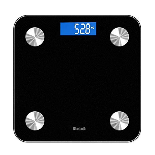 - putdWH99 Smart Home | Smart Body Fat 13-Index Monitor LED Display Bluetooth BMI Fitness Weigh Scale - Black