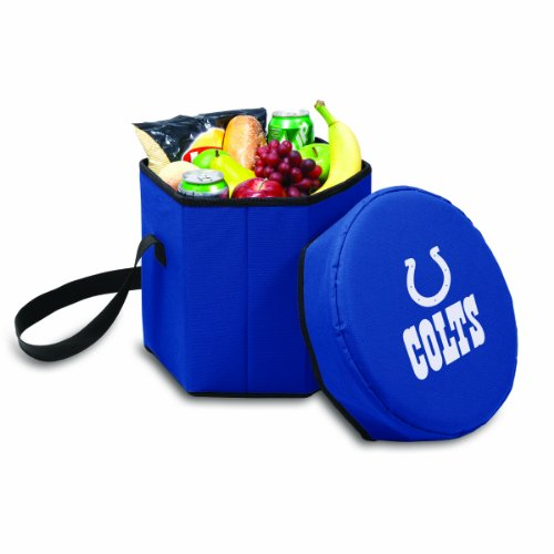PICNIC TIME NFL Indianapolis Colts Bongo Insulated Collapsible Cooler, Navy by PICNIC TIME