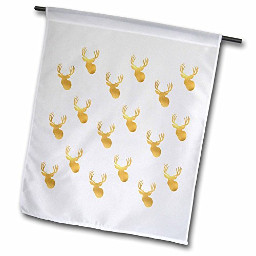 3dRose PS Animals - Image of Gold Glitz Deer - 18 x 27 inch Garden Flag (fl_274218_2)