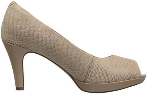 CLARKS Women's Narine Rowe Platform Pump Sand Snake Print Leather original for sale Ody5HuRA