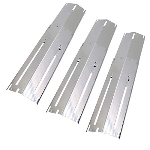 Uniflasy Universal Adjustable Stainless Steel Gas Grill Heat Tent/Shield Plates Flavor Bar Burner Cover Replacement Parts for Brinkmann Charbroil Models, Extends from 11.75 up to 21 Inch (3-Pack)