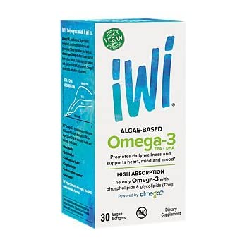 iWi® Omega-3 EPA+DHA, Plant-Based, 850 Mg of High-Potency Algae Oil, Almega® PL for Better Absorption - Higher than Fish, Krill & Other Algae, Vegan, ...