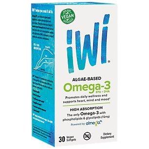 iWi® Omega-3 EPA+DHA, Plant-Based, 850 Mg of High-Potency Algae Oil, Almega® PL for Better Absorption - Higher than Fish, Krill & Other Algae, Vegan, Non-GMO, Gluten-Free, USA Farmed - 30 Day Supply (Omega Based Algae 3)