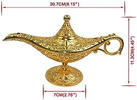 Plastic Fairy Tale Aladdin Magic Genie Lamp Halloween Christmas Fancy Dress ZX