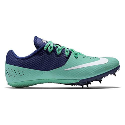 best authentic d7f99 97fd0 Nike Women s Zoom Rival S 8 Track Spikes (9 M US, Green Glow White Deep Royal  Blue)