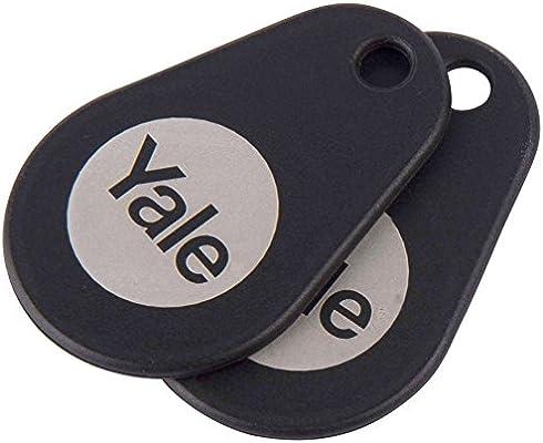 Yale P Yd 01 Con Rfidt Bl Smart Door Lock Key Tags Black Pack Of 2 Amazon Com