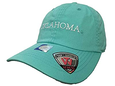 Top of the World Oklahoma Sooners TOW WOMEN Mint Green Seaside Adjustable Slouch Hat Cap by Top of the World
