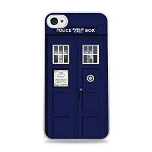 Dr Who Callbox Tardis White Silicone Case for iphone 4 4s i6
