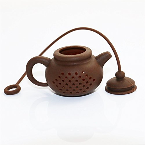 Funnytoday365 Creative Silicone Tea Bag Tea Pot Shape Tea Filter Infusers Safe Clean 1Pcs by FunnyToday365 (Image #3)