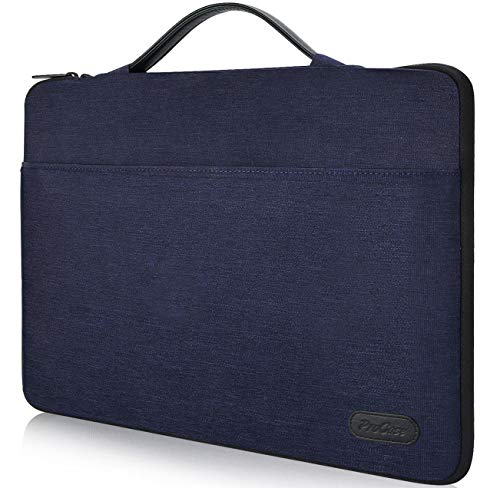 ProCase 14-15.6 Inch Laptop Sleeve Case Protective Bag for 15 MacBook Pro 2016, Ultrabook Notebook Carrying Case Handbag for 14 15 ASUS Acer Lenovo Dell HP Toshiba Chromebook Computers -Darkblue