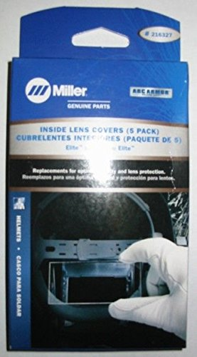 Miller 216327 4 1/4'' x 2 1/2'' Inside Lens Cover For use with Elite, Digital Elite and Titanium 9400/9400i helmets