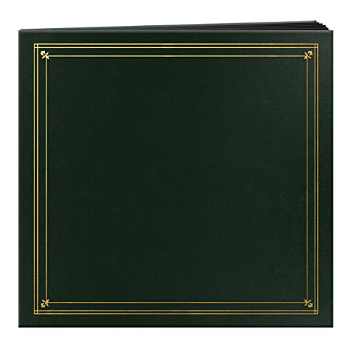 Pioneer Photo Albums 204-Pocket Post Bound Leatherette Cover Photo Album for 4 by 6-Inch Prints, Hunter Green