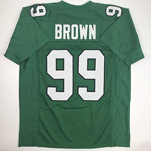 Unsigned Jerome Brown Philadelphia Kelly Green Custom Stitched Football Jersey Size Men's XL New No Brands/Logos (Signed Green Jersey Eagles)
