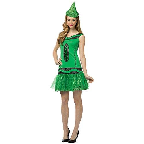 [Crayola Glitz and Glitter Crayon Dress Costume - Small/Medium - Dress Size 4-10] (Adult Green Crayon Costumes)