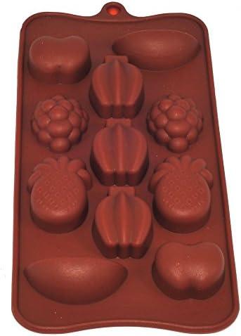 Orange Vzer 19 Cavity Flexible Honeycomb Cake Molds for Kids Silicone Baking Cake Chocolate Mold Bakeware