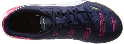 Puma evoPOWER 4.2 IT Jr - Zapatillas deportivas para interior de material sintético infantil azul - Blau (peacoat-white-bright plasma 01)