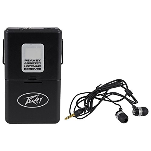Peavey ALSR 72.1 Mhz Assisted Listening Receiver Body Pack for ALS 72.1 System Antenna–Integral With Earphones by Peavey