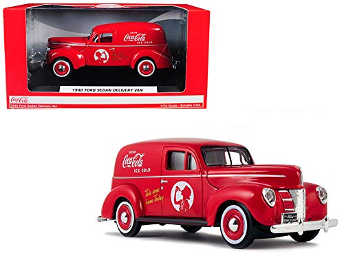 Motor city classics 1:24 Coca-Cola - 1940 Ford Sedan Delivery Van (Red)