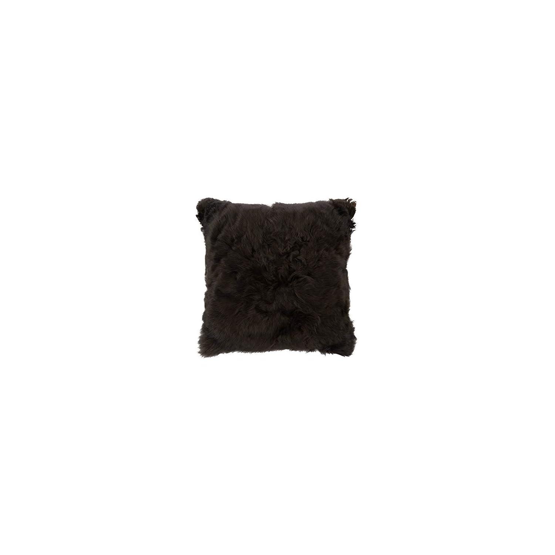 Raymis 100% Baby Alpaca Fur 15″x15″ Pillow Cover (Black)