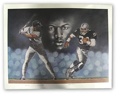 Oakland Raiders Nfl Hand Signed - Bo Jackson Hand Signed Auto Large Poster Baseball Football Royals Oakland Raider - NFL Autographed Miscellaneous Items