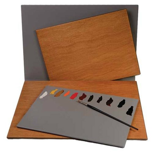 New Wave Palette, Posh Table Top, Wood with Grey Finish, Fits in Masterson Sta-Wet Premier and Artist Palette Seal, 12 x 16 inches (00504) by New Wave
