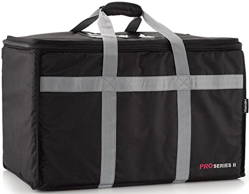 Insulated Commercial Food Delivery Bag - Professional Hot/Cold Thermal Carrier - Large (23'' x 14'' x 15''), Lightweight & Portable for Catering, Grocery Shopping or Parties & Holidays by Henro (Image #2)