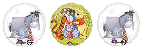 3 Eeyore Winnie the Pooh Mylar Balloons - Eeyore Foil Balloon Bouquet ()