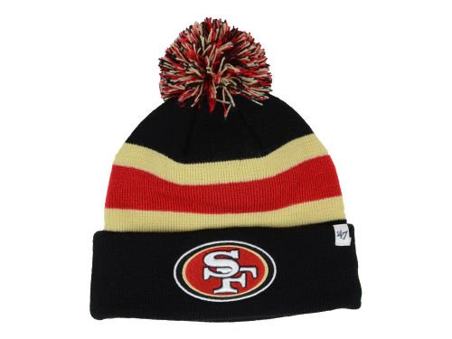 San Francisco 49ers One Size OSFA NFL Breakaway 3 Color Pom Knit Beanie Hat Cap