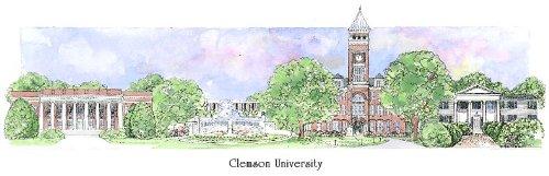 Clemson University - Collegiate Sculptured Ornament by Sculptured Watercolor Ornaments