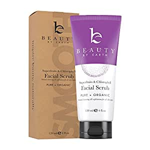 Face Scrub Exfoliating Face Wash - Natural & Organic Face Cleanser and Face Exfoliator for Women & Men, Facial Scrub Microdermabrasion, Exfoliating Face Scrub & Vegan Facial Wash Skin Care Products