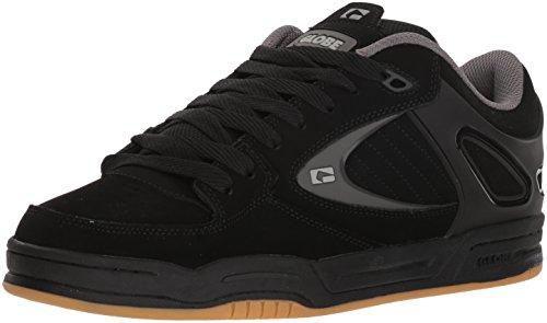 Globe Men's Agent Skate Shoe, Black/Black/Charcoal, 11 M US