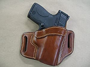 Azula OWB Leather 2 Slot Molded Pancake Belt Holster for Ruger LC9, LC9s EC9s, LC380 CCW TAN RH